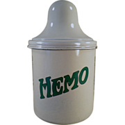 Old, Porcelain Malt Canister with Lid - Thompson's Hemo