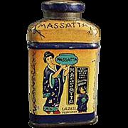 Old, Miniature Talc Tin - Lazell's Massatta Sample
