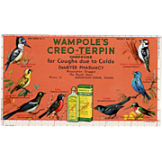 Old, Advertising Ink Blotter - Wampole's Creo-Terpin