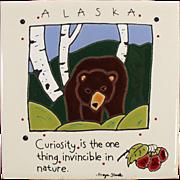 Old Art Tile - Alaskan Bear - Nice Decorator Piece