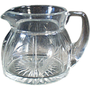 Old, Heisey Creamer - Rib & Panel Pattern with Cut Design