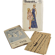 Old, Butterick #3691 Pattern - Little Girls, Pinafore Style Dress - Vintage, Size 14