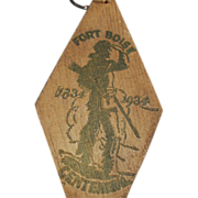Old Key Ring - Fort Boise Centennial - Boise Idaho Souvenir