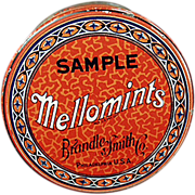 "Old, Brandle Smith ""Mellomints"", Sample Tin"