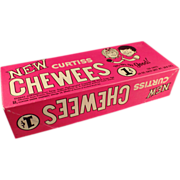 Old, Curtiss Chewees Candy Box - 1960's