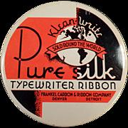 Old Typewriter Ribbon Tin - Klean-Write Pure Silk