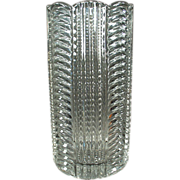 Old, Heisey Vase - Ridgeleigh Pattern, Clear