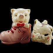 Old, Celluloid, Little Piggies - 2 Different Figures