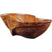Decorative Planter- Sunkist, Wood Grained, California Pottery