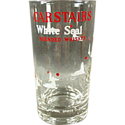 "Old, Carstairs ""White Seal"" Advertising Glass"