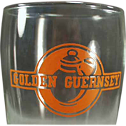 Old Advertising Glass - Golden Guernsey