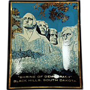 Old,Mount Rushmore Souvenir - Glass Tray in Original Package