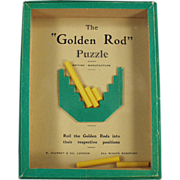 Old, Dexterity Game - The Golden Rod Puzzle - 1960's