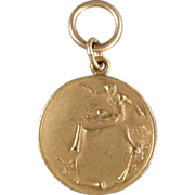Old, Track and Field Medal - Gold Colored - High Jump