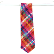 Vintage Necktie - Bold & Colorful , Custom Made