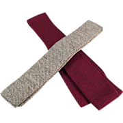 Old Neckties - Skinny, Knit, Square Bottom - Two(2)