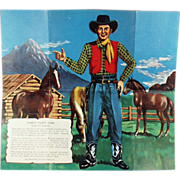 "Old, Party Game for Children - ""Pin the Gun on the Cowboy"""