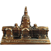 Old, Figural Paperweight -The Capitol Building in Washington D.C.