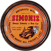 Old, Simoniz Wax Tin - Automotive and Furniture Wax