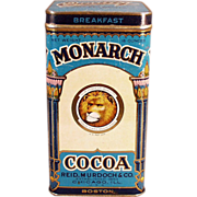 Old, Cocoa Tin - Monarch, Breakfast Cocoa  - Large Size