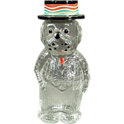 Old, Perfume Bottle - Figural - Dog Wearing a Hat