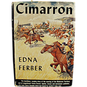 "Old, Hardbound Book - Edna Ferber Novel ""Cimarron"""