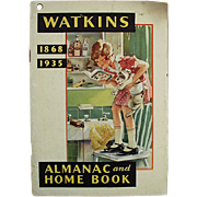 1935 Almanac - J.R. Watkins Advertising