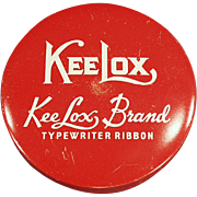 Old Typewriter Ribbon Tin - Red KeeLox