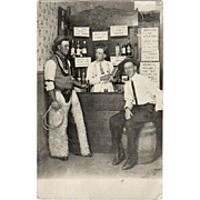 1913 Postcard - Real Photo - Cowboys in a Saloon