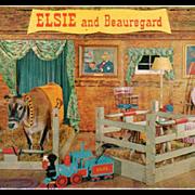 SOLD Old Postcard - Borden's Elsie and Beauregard in their Barn Boudoir