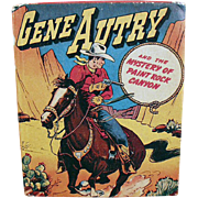 Old, Gene Autry, Better Little Book - Mystery of Paint Rock Canyon, No. 1425