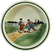 Old Baby Plate with Dutch Children - 1920's Germany