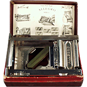 "Old, Allegro - Model ""L"", Razor Blade Sharpener with Original Box"