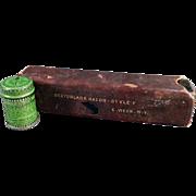 Old Weck's Razor Strop Dressing Tin and Razor Box
