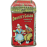 Old, Advertising Tin - Droste's Cocoa Sample - Very Small Tin