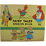 Child's Old Stickers Book - Favorite Fairy Tales