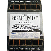 SOLD Old, Permo-Point Phonograph Needles - 10 with Original Card