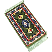 Old, Miniature Area Rug - Perfect for a Doll House