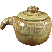 Old Frankoma - Covered Bean Pot - Mayan Aztec, Desert Gold Glaze