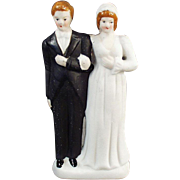 Old, Bride & Groom, Wedding Cake Topper  - Occupied Japan