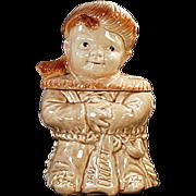 Old, Davy Crockett Cookie Jar - Brush Pottery