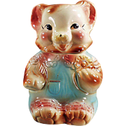 Old Cookie Jar - Baby Bear in Rompers - American Bisque