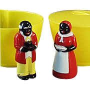Old, F & F Cream & Sugar Set - Aunt Jemima & Uncle Mose