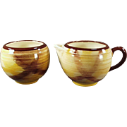 Old Vernon Kilns, Organdie Pattern, Cream & Sugar Set