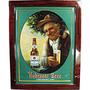 Old, Self Framed Tin, Advertising Sign - Hudepohl Beer - Colorful Graphics