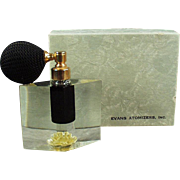 Old Perfume Atomizer - Evans Lucite, Arlene with Original Box