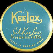 Old, Typewriter Ribbon Tin - KeeLox SilKee Lox