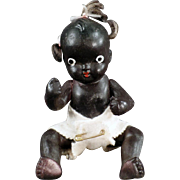 """SOLD Old, Japanese Bisque, Black Baby Doll - 5"""""""