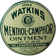 Old Sample Tin - Watkins Menthol-Camphor Ointment