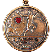 Old, Track Meet Sports Medal - Peoria